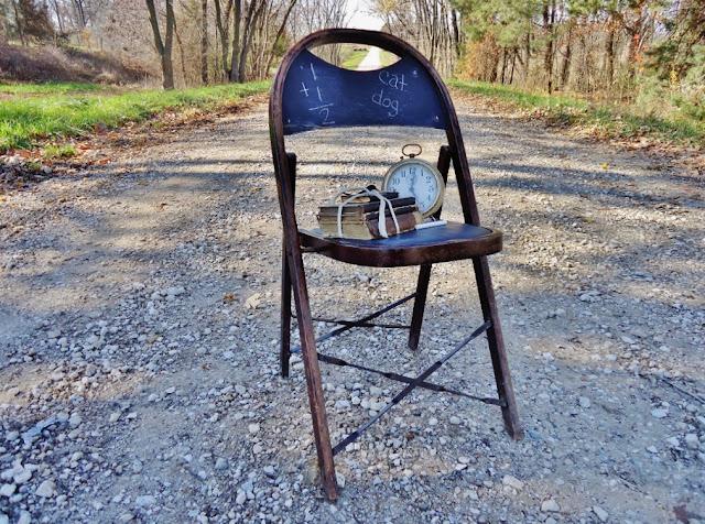 Repurposed Chalkboard Chair