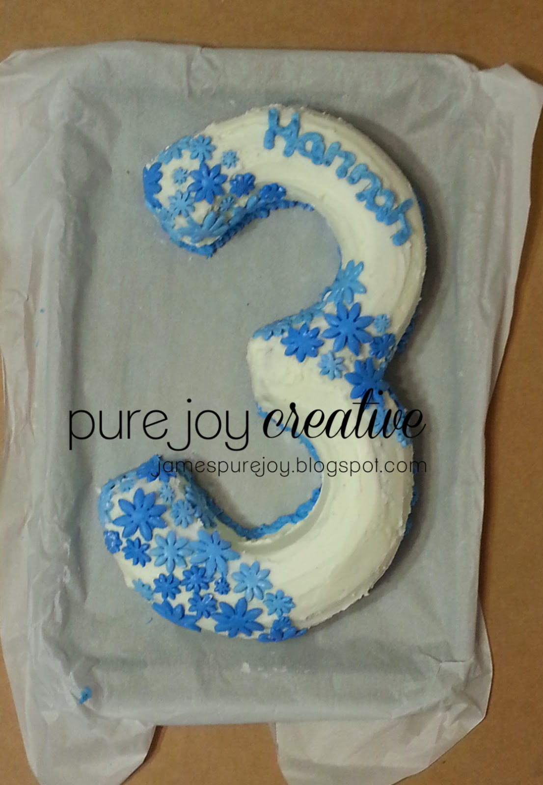 Trendy Treehouse Number 3 Shaped Cake Tutorial