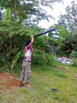 meriam pipa pengganti meriam bambu