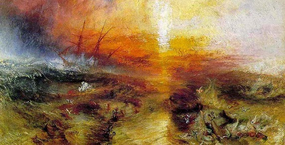 Turner: Typhoon Coming On The Slave Ship, 1840.