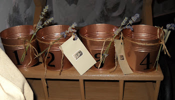 Copper numbered planters