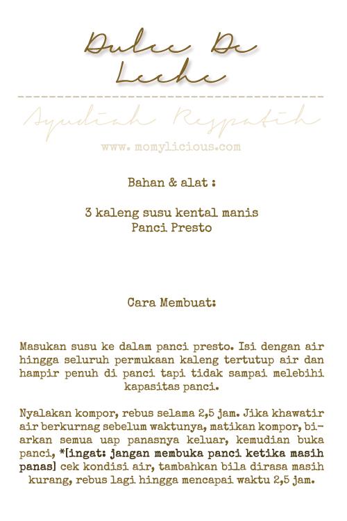 Dulce de leches's Recipe
