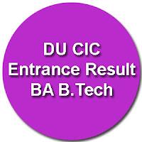 CIC Merit List 2015 Admission