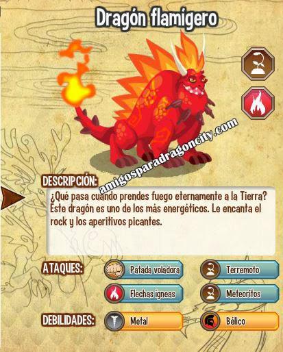 caracteristicas del dragon flamigero