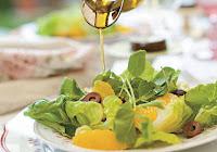 Salada de Alface com Agrião e Laranja (vegana)