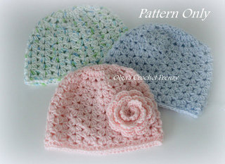 Baby Hat Crochet Pattern, $2.49