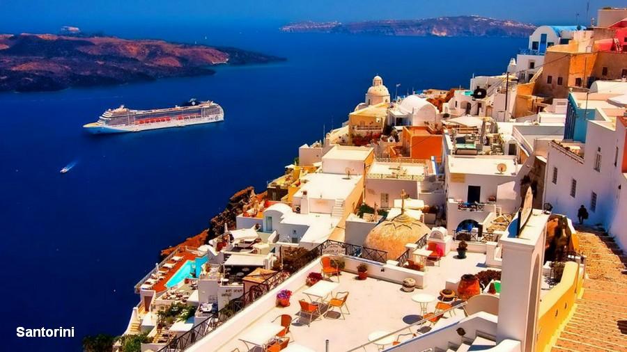 Santorini - The Top Ten Most Romantic Honeymoon Destinations in Hellas (Greece) and in Hellenic (Greek) Islands
