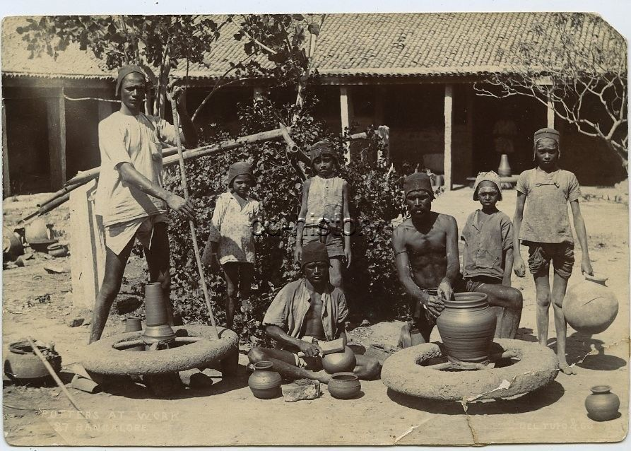 Potters At Work - Bangalore c1900's