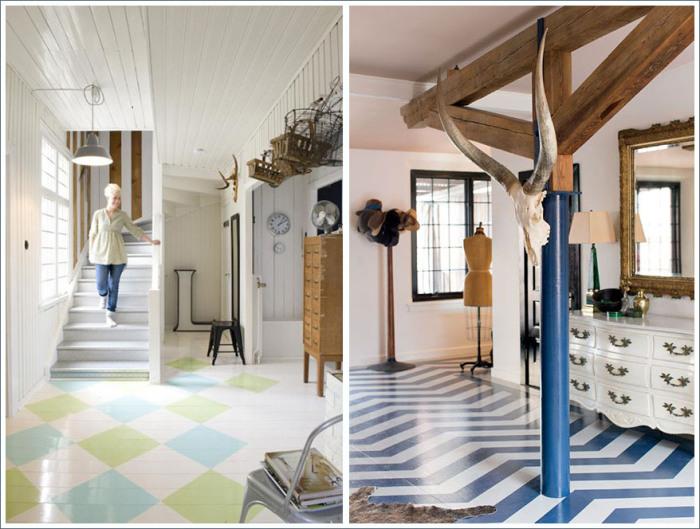 Pintar suelo de madera suelo de madera blanco with pintar - Pintar terrazo viejo ...