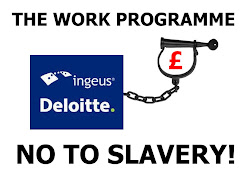 Ingeus Deloitte Work Programme ball and chain protest