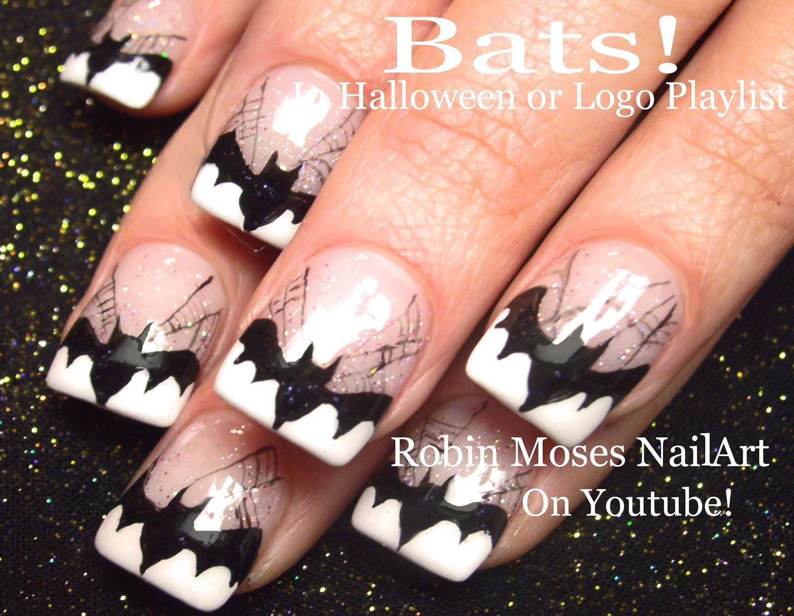 Cute Halloween Skeleton Nails Skeleton Nails Halloween Nails
