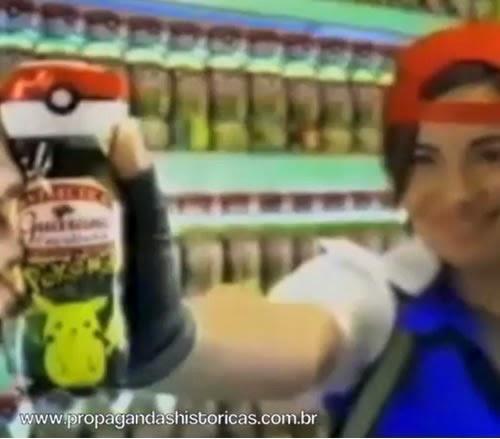 Propaganda do Guaraná Caçulinha Pokemón, apresentado em 2000. Série Limitada.