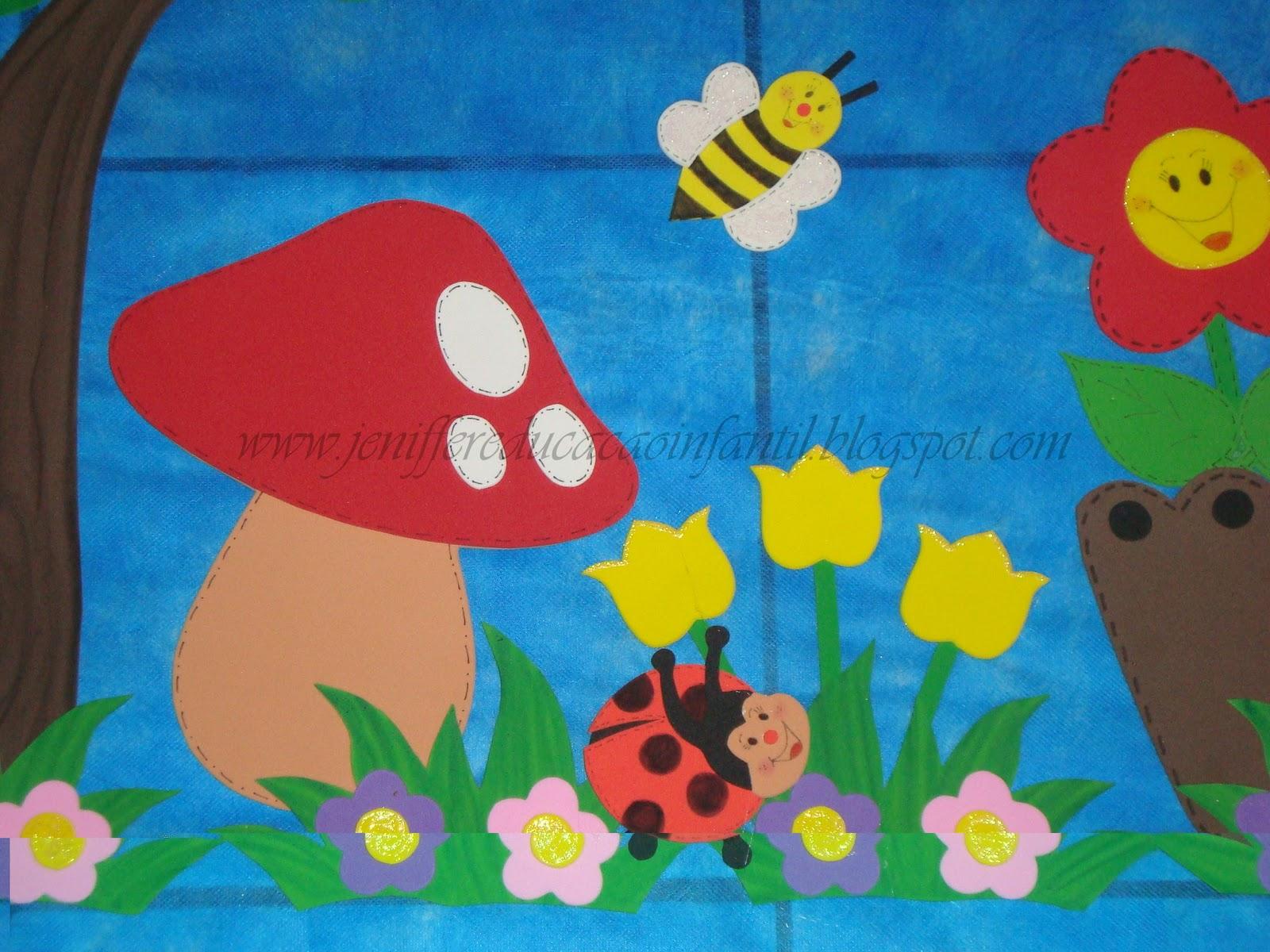 decoracao sala de aula jardim encantado:EDUCAÇÃO INFANTIL: DECORAÇÃO DE SALA – TEMA: JARDIM