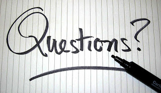 questions? written on a piece of paper