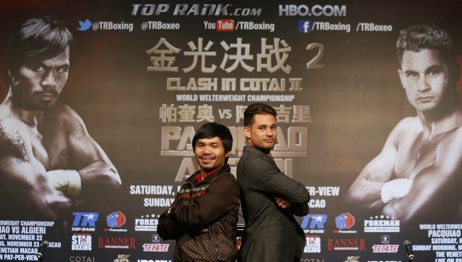 Manny Pacquiao vs Chris Algieri 24/7 premieres Saturday, November 8