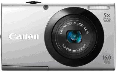 Canon PowerShot A3400 IS Silver Color