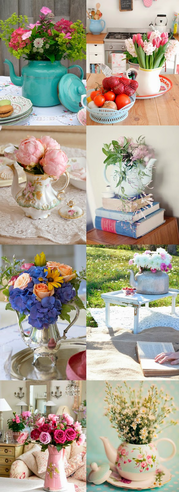 ideia bules e flores