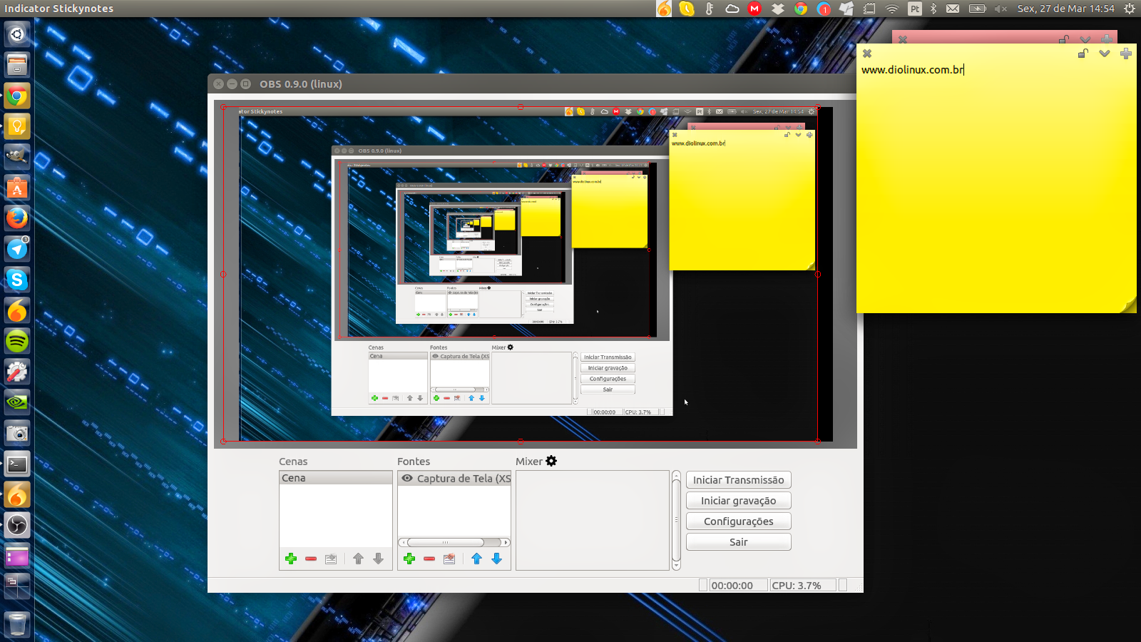 Open Broadcaster para Linux