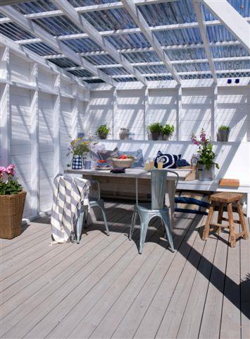 Naturgrå terrassebeis