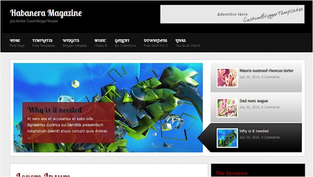 Habanera Magazine - Free Premium Blogger Template