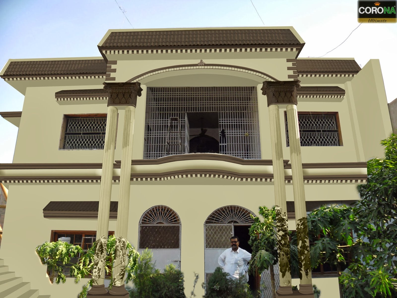 Elevation Colour Combination In Hyderabad Sindh By Corona Paints & Paints Of Ideas: Elevation Colour Combination In Hyderabad Sindh By ...