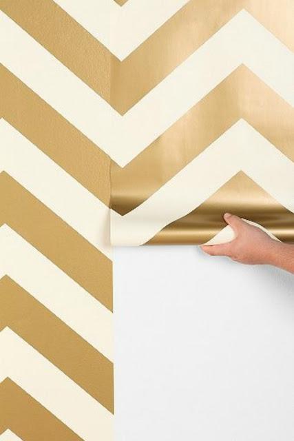gold chevron wallpaper