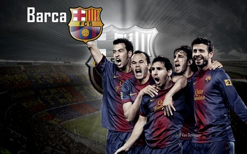 barcelona fc wallpaper 2012 2013 2 Kumpulan Foto Wallpaper Tim Barcelona Terbaru 2013