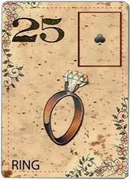 carta de lenormand 25 anillo