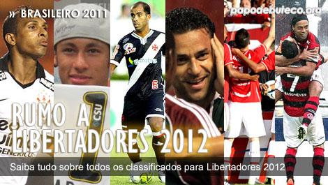 Os classificados para Libertadores 2012, clubes brasileiros na Libertadores 2012, rodada do brasileiro, rodada do brasileirão