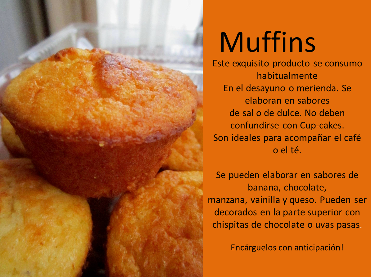 Tortas y Ponques Lucia: Muffins a su gusto!