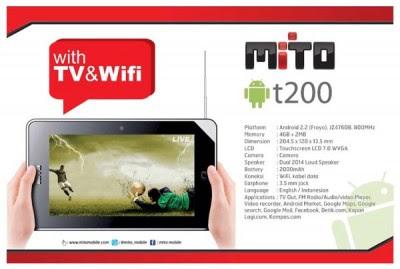 harga spesifikasi Mito T200 tablet android - Berita Handphone