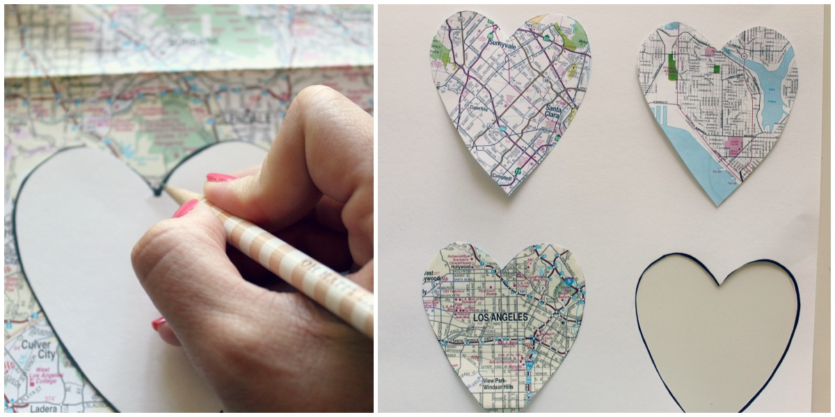 Diy Ombre Heart Maps Michaela Noelle Designs