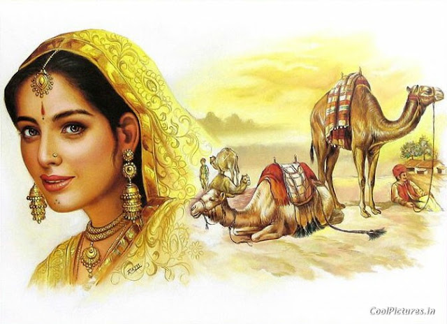 Rajasthani Girls Art Paintings 35