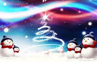 Tarjeta de Navidad Muñecos de Nieve