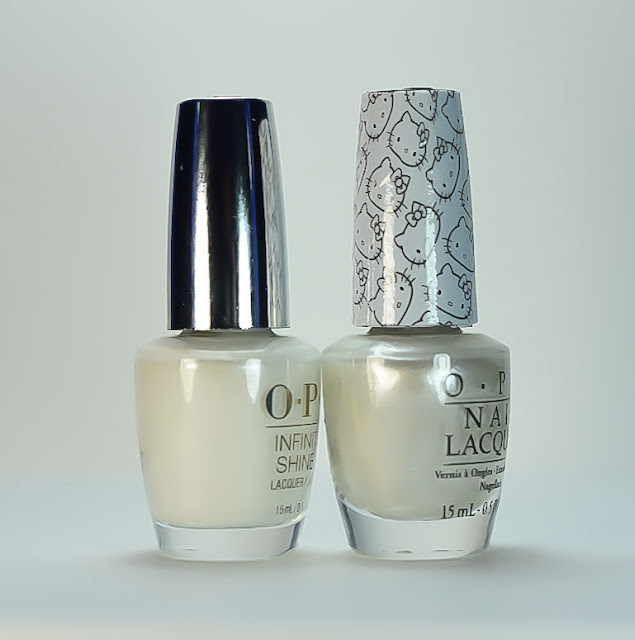 OPI Kitty White Comparison