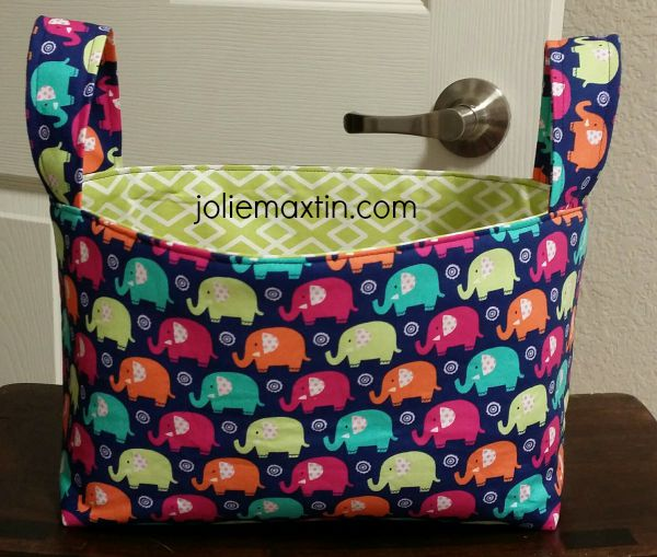 Elephant Fabric Basket