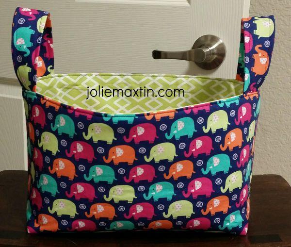 Elephant Fabric Basket