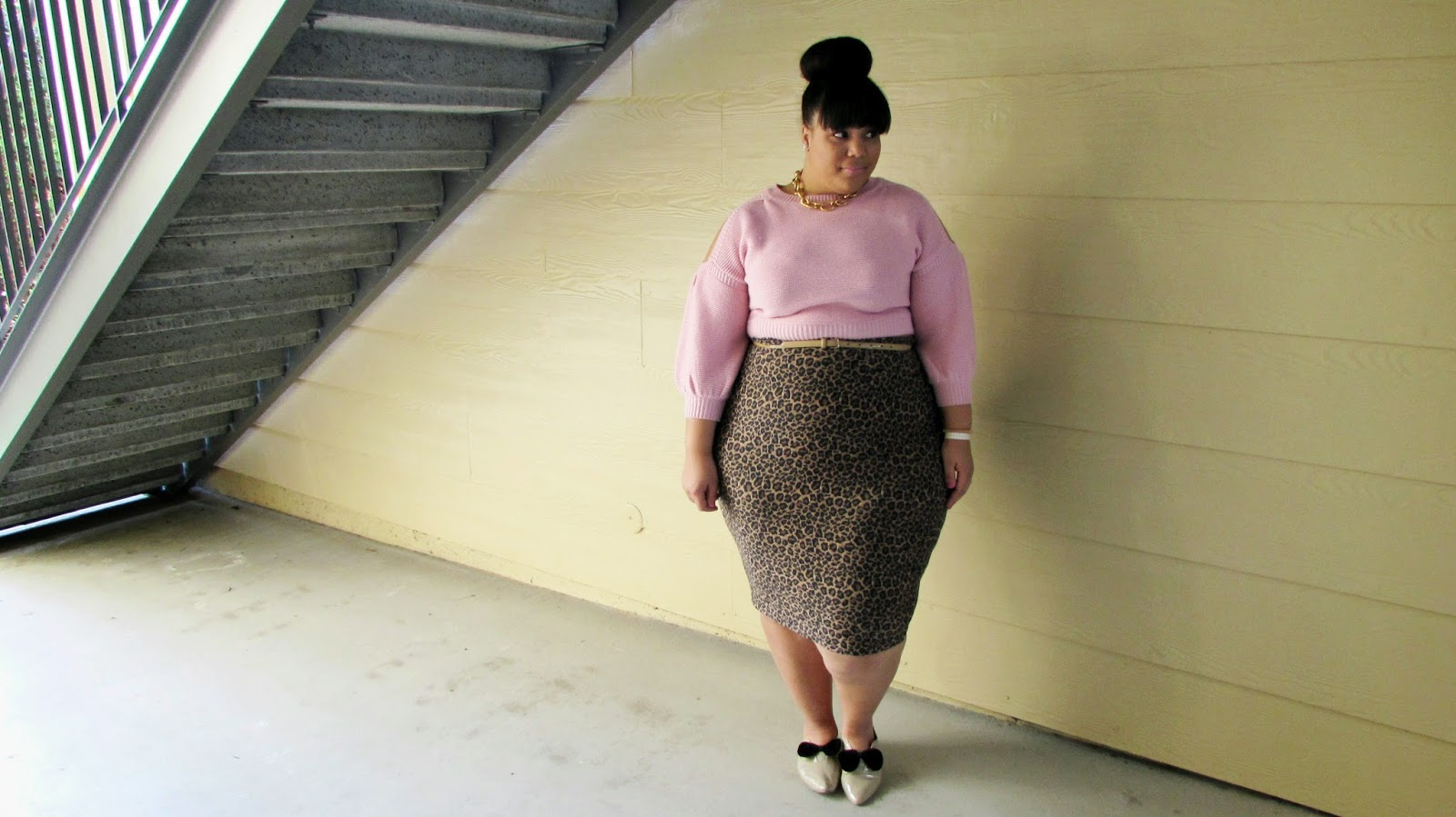 SheInside, Plus size pink crop top, pink cropped sweater