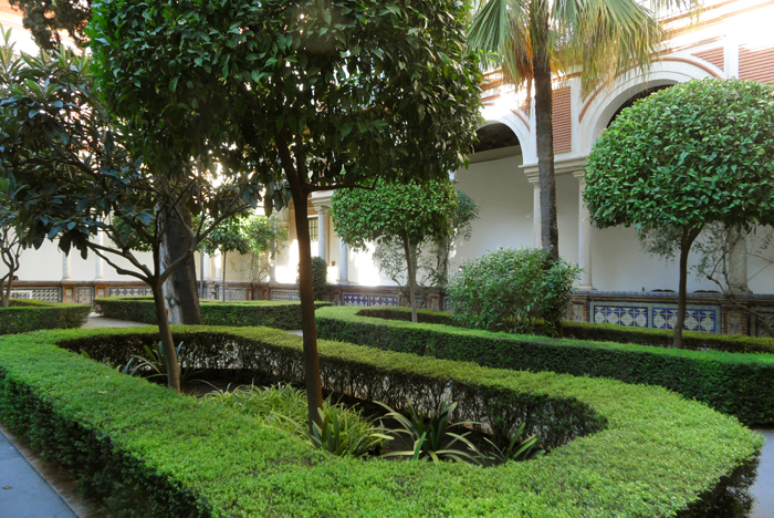 Courtyard of The Museum of Fine Arts of Seville, Spain