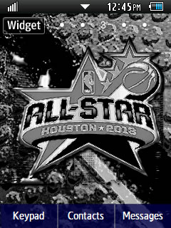 Sports NBA All-Stars 2013 Samsung Corby 2 Theme Wallpaper