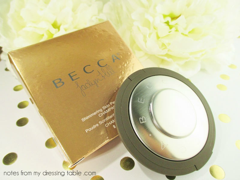 Becca X Jaclyn Hill Shimmering Skin Perfector Pressed - Champagne Pop - Packaging Overview notesfrommydressingtable.com