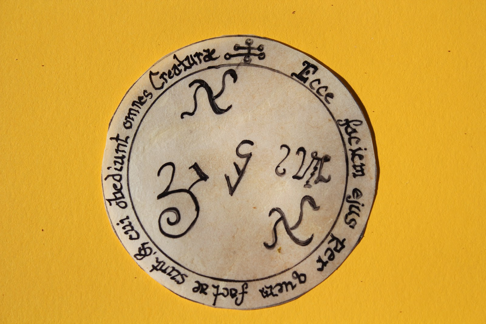 Gold Plated Silver Sun Talisman for Health and Success