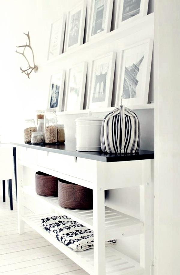 Ideas deco en blanco negro decoraci n for Corredor deco blanco y gris