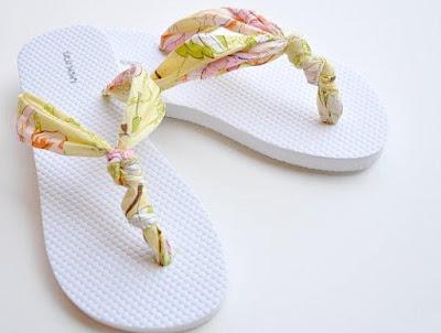 Reciclaje de sandalias para verano