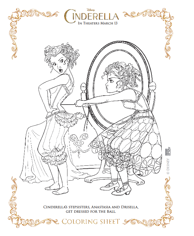 The Art Of Random Willy Nillyness Cinderella Coloring