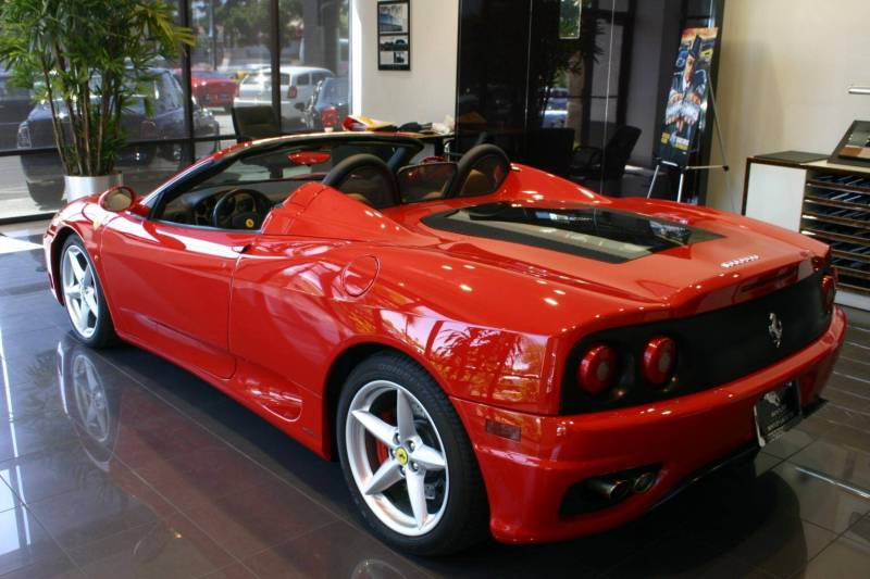 every thing of most famous car ferrari spider 360. Black Bedroom Furniture Sets. Home Design Ideas