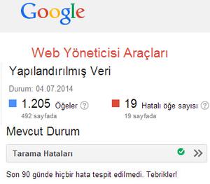 Google Web Yönetici Araçları