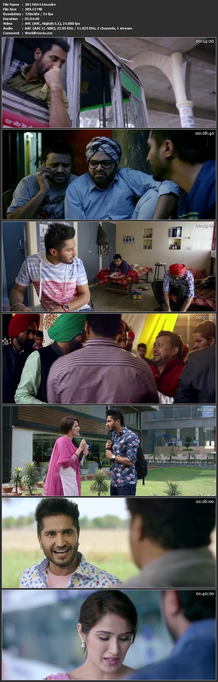 Screen Shot Of Dildariyaan 2015 Full Movie Free Download 300MB HDRip 480P Watch Online