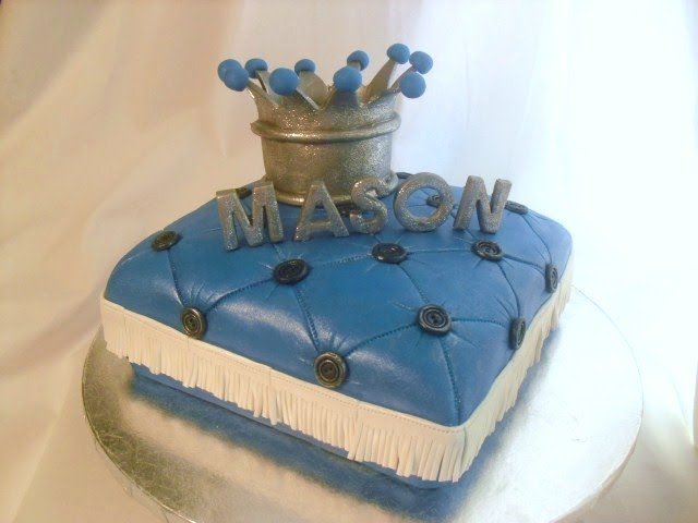 Cake With Crown On It : made FRESH daily: Crown and Pillow Baby Shower Cake!