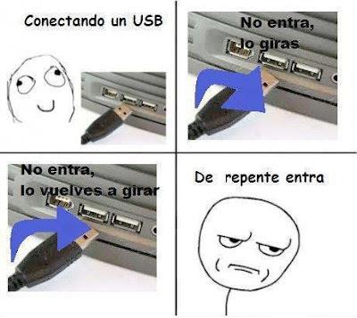 Meme : Conectando el USB